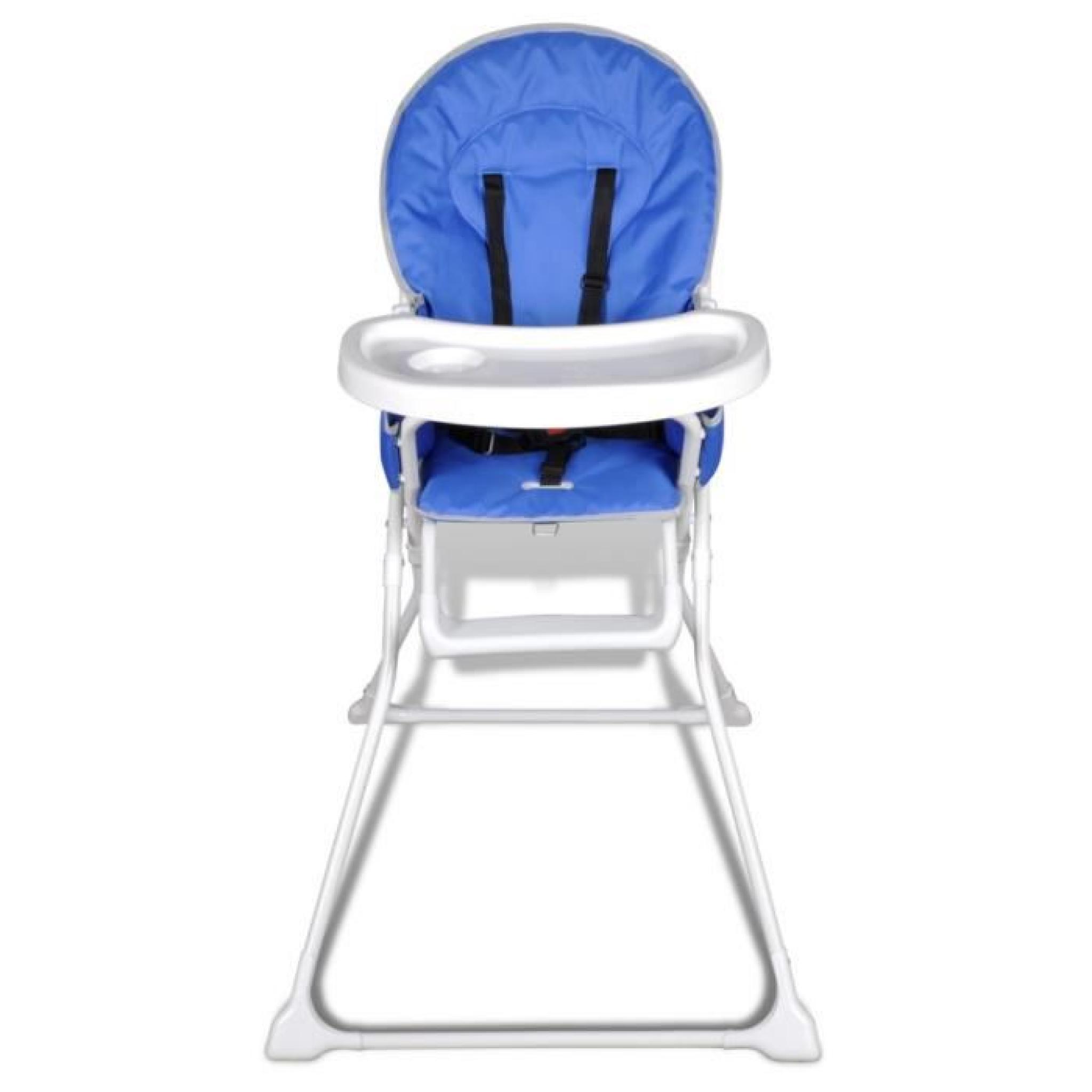 magnifique chaise haute de bebe bleue achat vente chaise salle a manger pas cher couleur et design fr