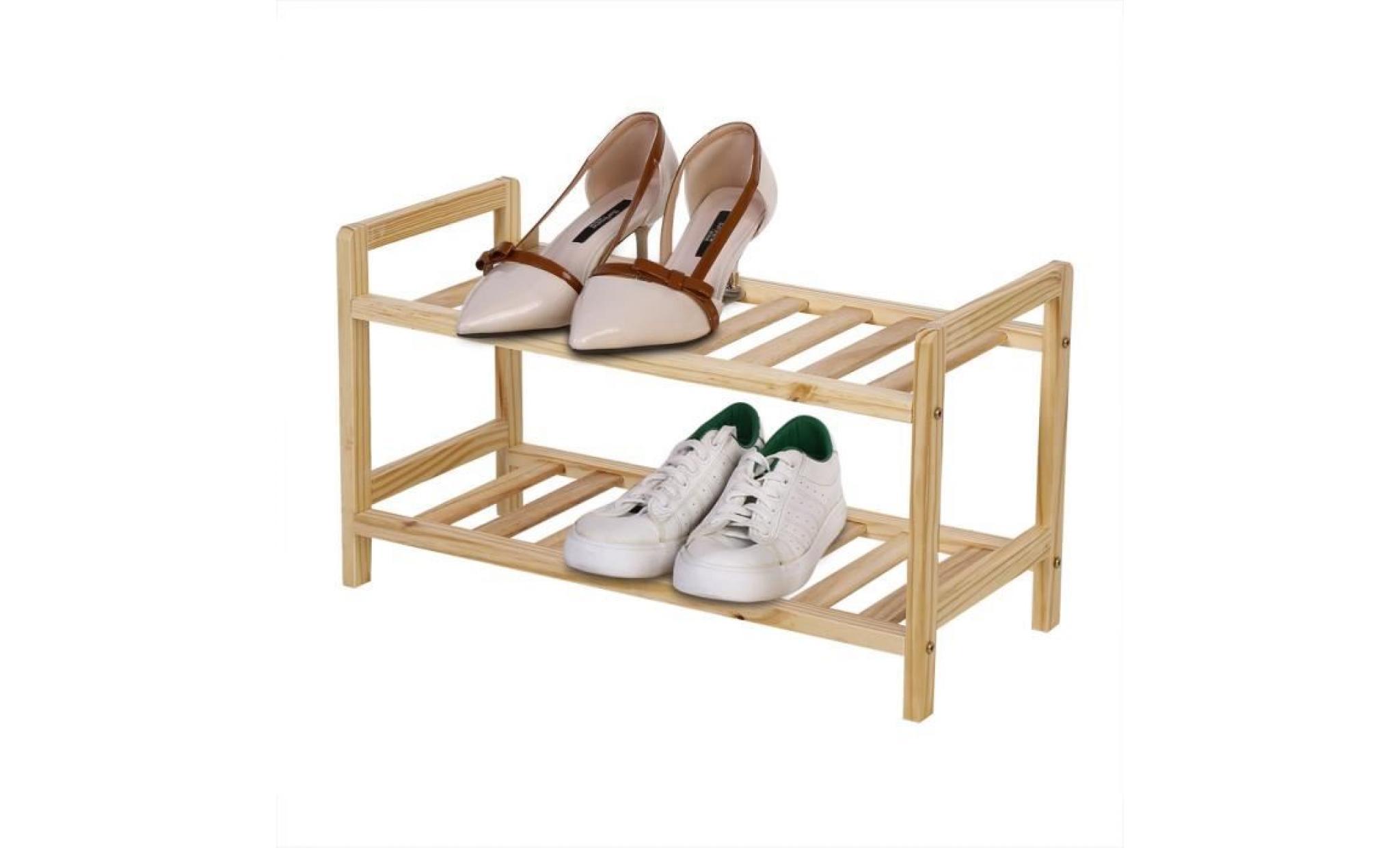 meuble a chaussures etagere a chaussures 2 etages achat vente meuble chaussure pas cher couleur et design fr