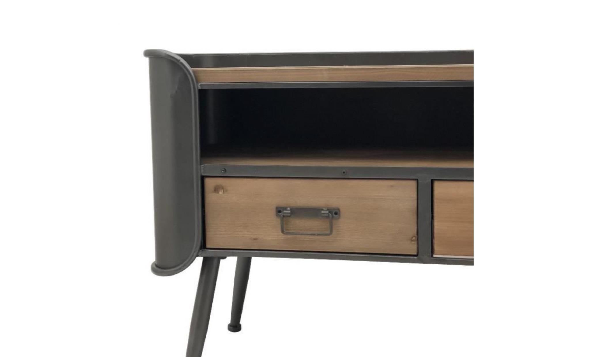 meuble tele tv enfilade industriel fer bois 140 cm x 64 cm 14140 bahut achat vente buffet pas cher couleur et design fr