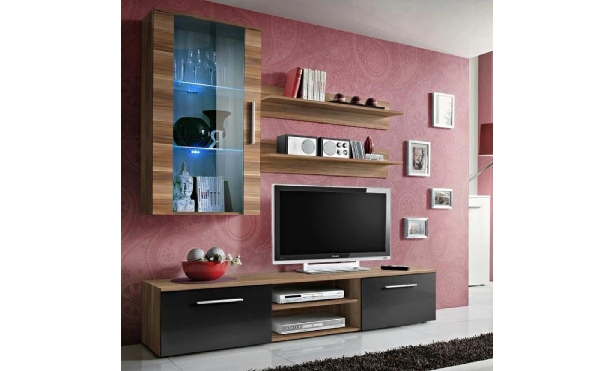 paris prix meuble tv mural design galino v wood blanc brun marron achat vente meuble tv pas cher couleur et design fr