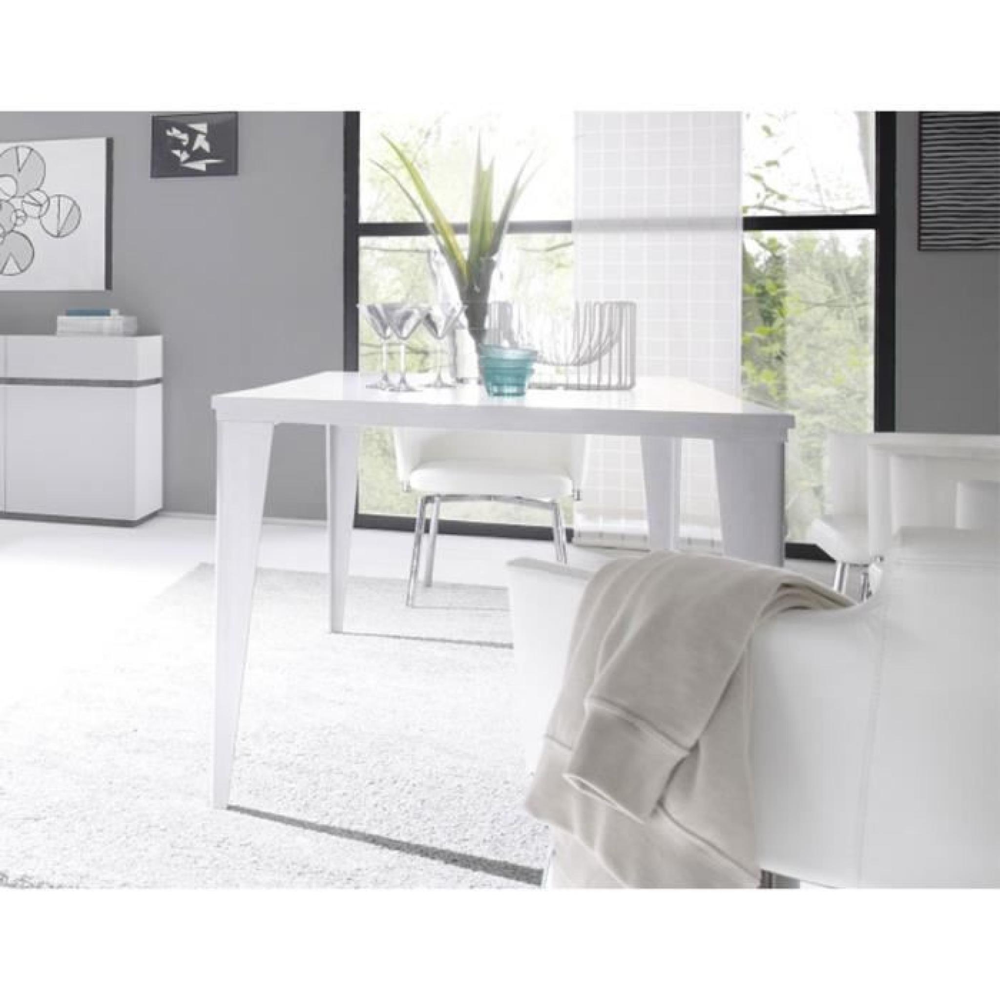 table a manger gris mat ou blanc mat contemporaine legos gris achat vente table salle a manger pas cher couleur et design fr