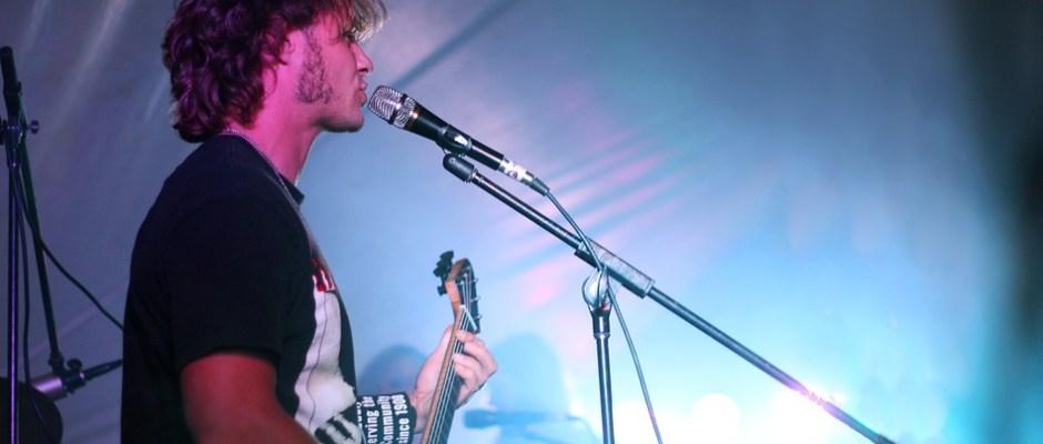 Singer in Rock Concert