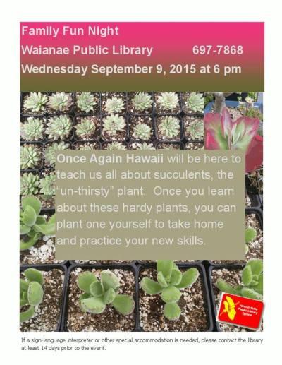 Waianae - Family fun night succulents
