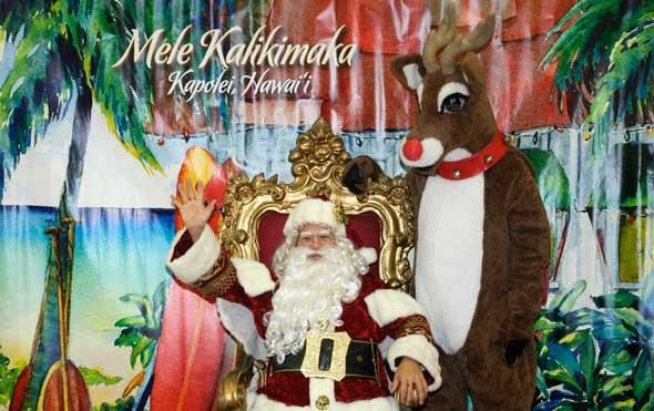 Santa Saturday in Kapolei
