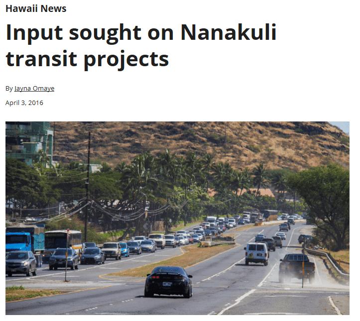 Nanakuli transit
