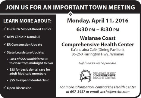 WCCHC  TOWN MEETING