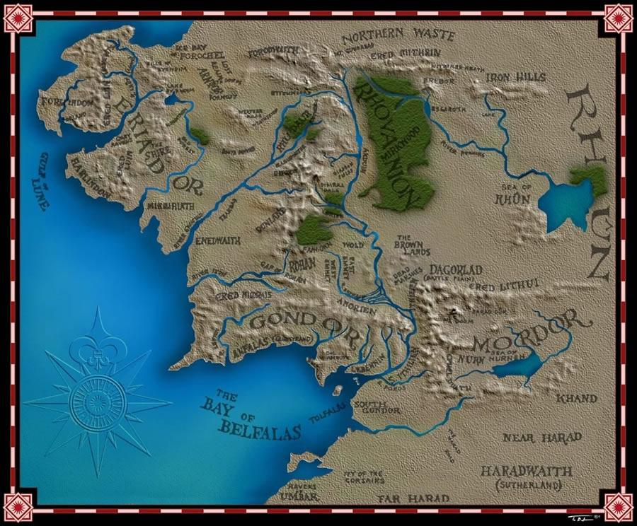 Map Shire Rivendell