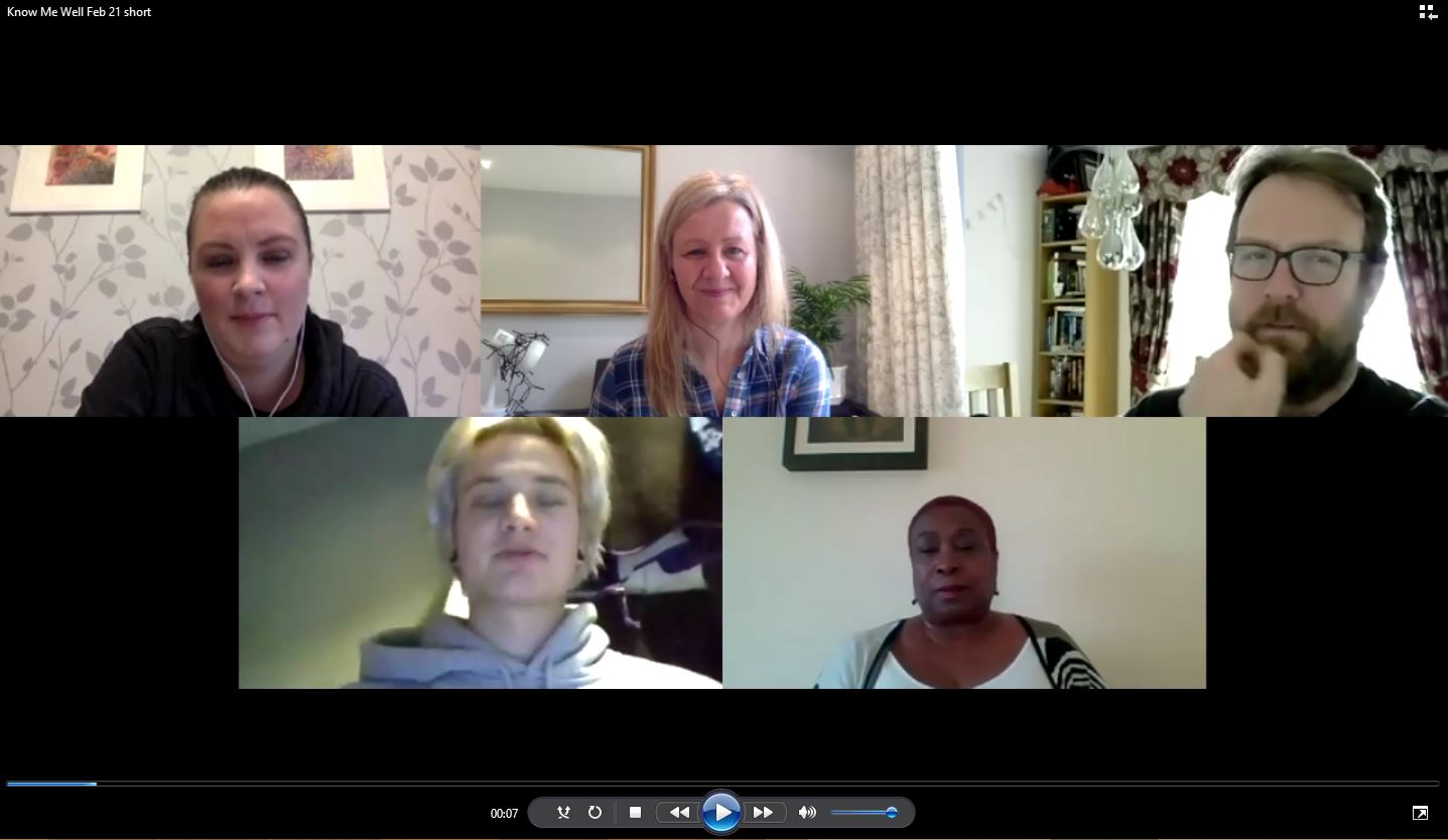 5 people on a video call talking about loneliness