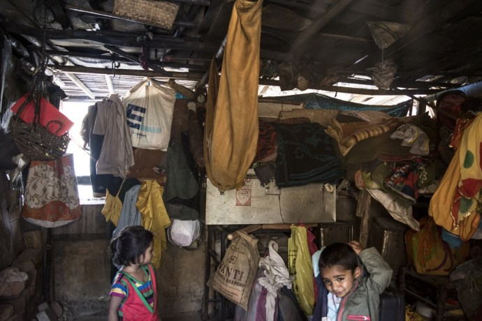 The living conditions in these settlements are tough. Usually, a family of 6-7 people lives in a single room.