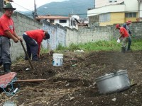 Community members working in the La Columna community garden, Merida, Venezuela. by Tamara Pearson