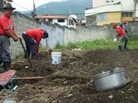 Community members working in the La Columna community garden, Merida, Venezuela. by Tamara Pearson