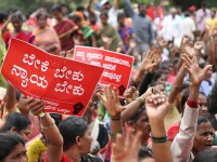 Street Vendors In Bangalore Organise Protest March