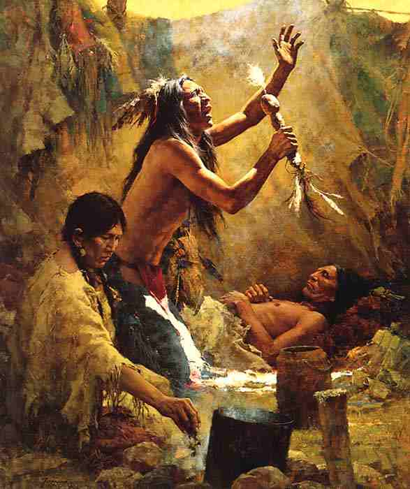 Howard Terpning. Medicine Man, 1983