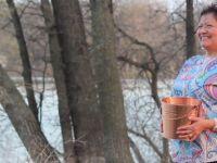 Lake Winnipeg Water Walk. Katherine Morrisseau-Sinclair, an Indigenous woman who, inspired by Grandmother Josephine Mandamin, started the Lake Winnipeg Water Walk.