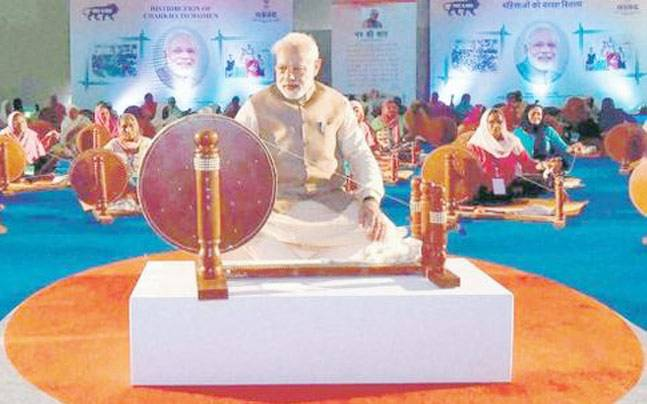 PM Modi removes Mahatma Gandhi's image from Khadi Gram Udyog calendars