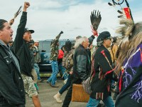 Violent Arrests As Police Begin Evacuating Dakota Access Pipeline Protest Camp