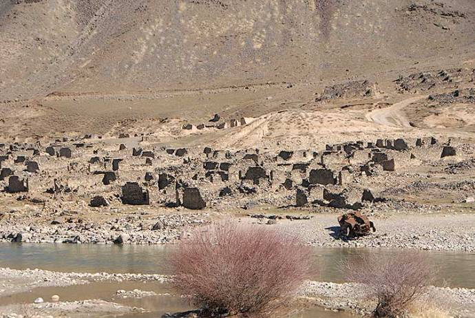 Village in the North destroyed during the war