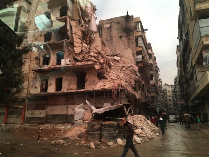 Destroyed neighborhood in Homs