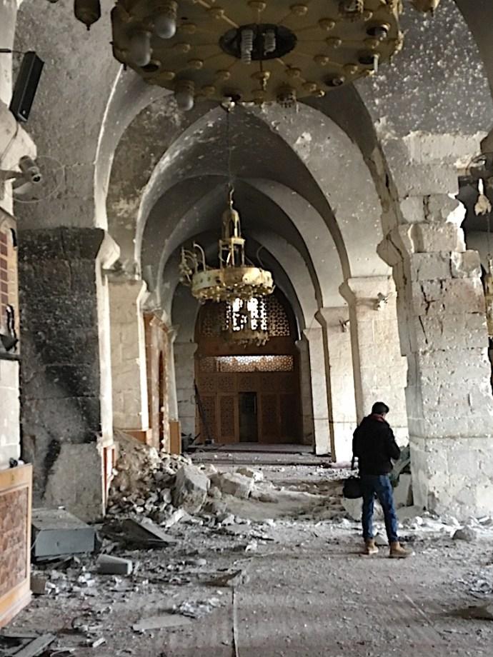 Inside Umayyad Mosque in Aleppo