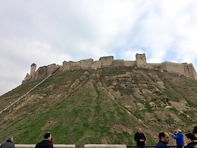 Majestic Citadel standing in Aleppo