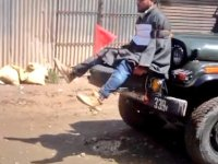 Kashmiri Youth Tied In Front Of Army Jeep As Human Shield