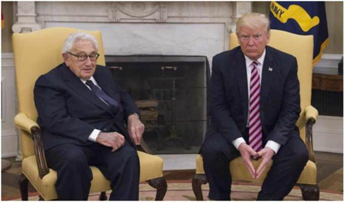 Dr. Henry A. Kissinger meets President Donald J. Trump at the White House 10 May 2017