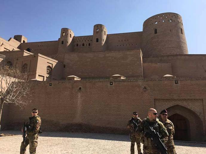 Italian troops took over ancient Citadel in Herat City