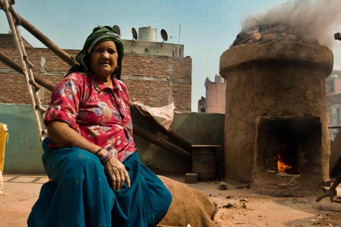 The whole village has abundance of burning furnaces adding to the respiratory problems. Kamla Devi and her son are of many who have to constantly deal with the choking smoke.
