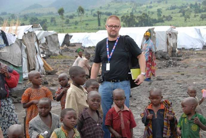 Author at Goma war zone, Congo (DRC)