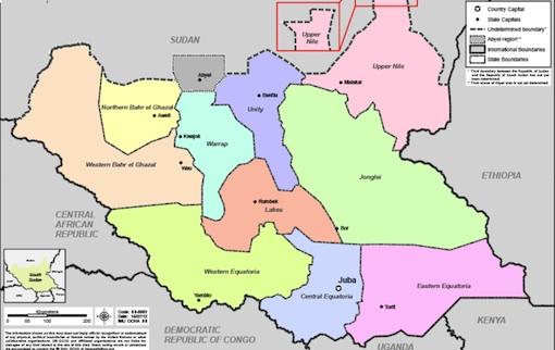 SOSUDAN MAP