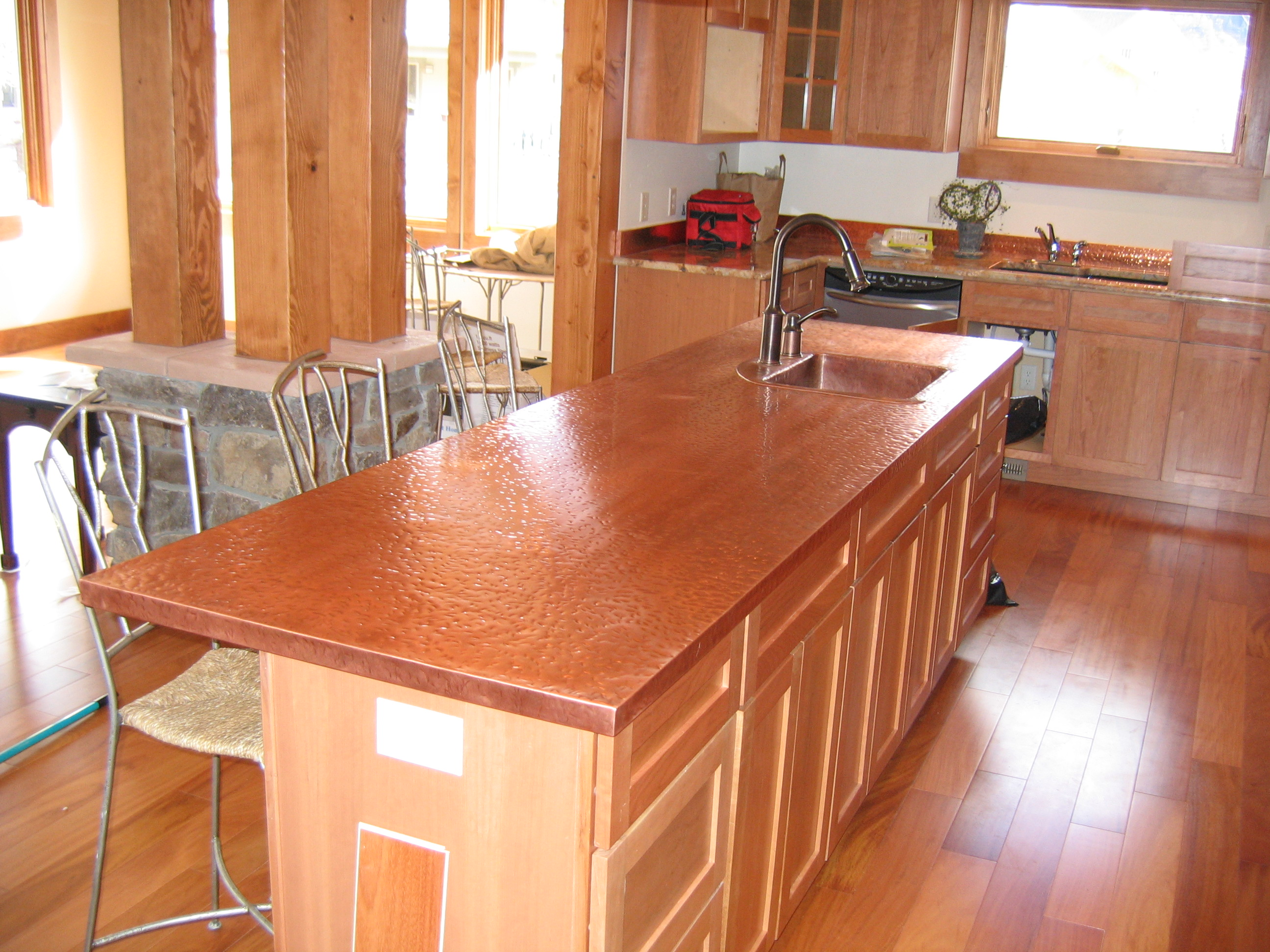 Copper countertops cost installed plus pros and cons of Copper countertops cost
