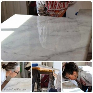 glossy-faux-marble-countertop-tutorial-Batchelors-Way-on-Remodelaholic-600x600