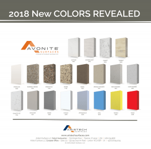 AVONITE SURFACES NEW COLORS
