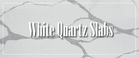 White quartz slab for kitchen countertops