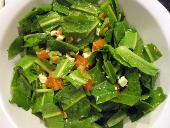 Salad of arugula, orange and feta