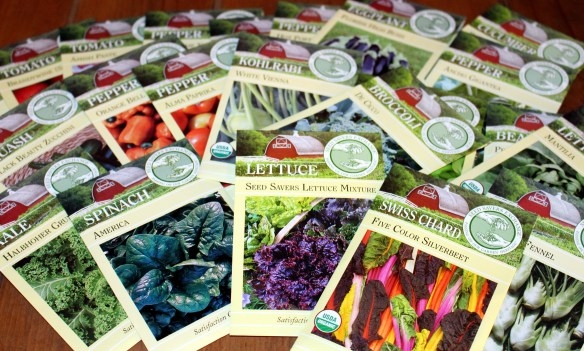 Seed packets for the kitchen garden