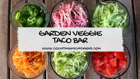 garden veggie taco bar