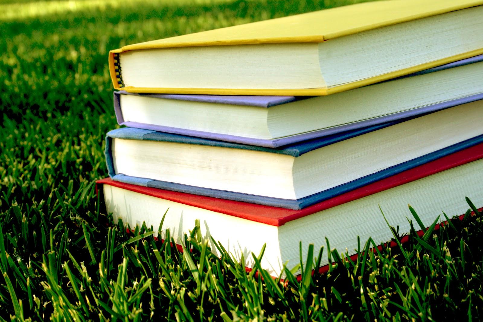 books on grass_161043