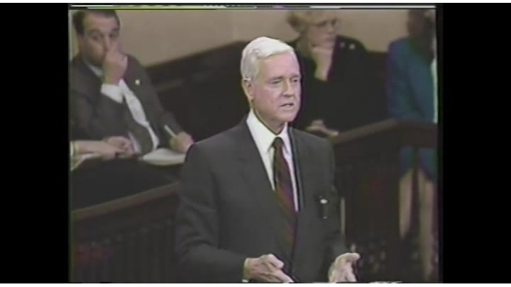 Sen. Hollings delivers remarks on FEMA