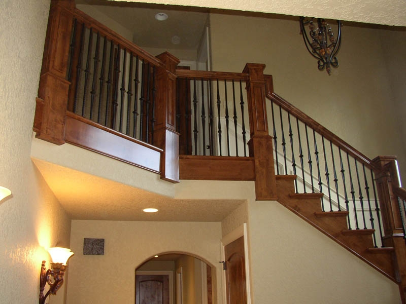 Specialty Cabinets Country Cabinets Halsey Llc | Knotty Alder Stair Railing | Distressed | Diy | Interior | Indoor | Wood