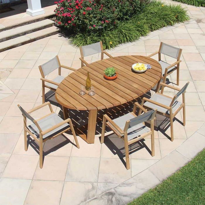 eclipse 7 ft oval table