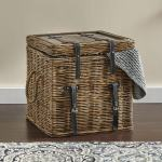 Rattan Trunk End Table Country Door