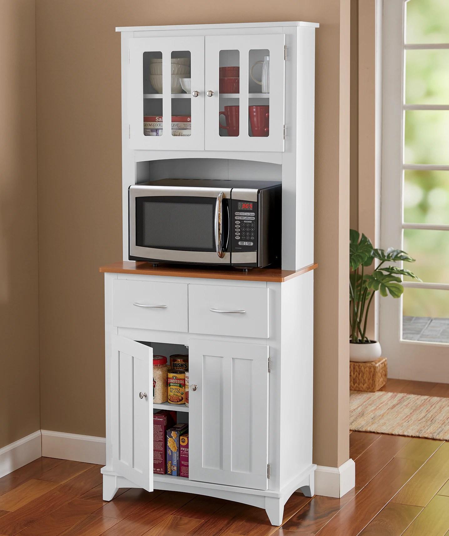 brook tall microwave hutch