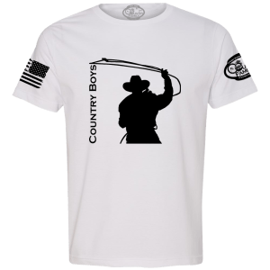 Roping Cowboy Graphic Tee - Front
