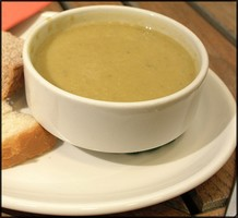 a bowl of courgette soup