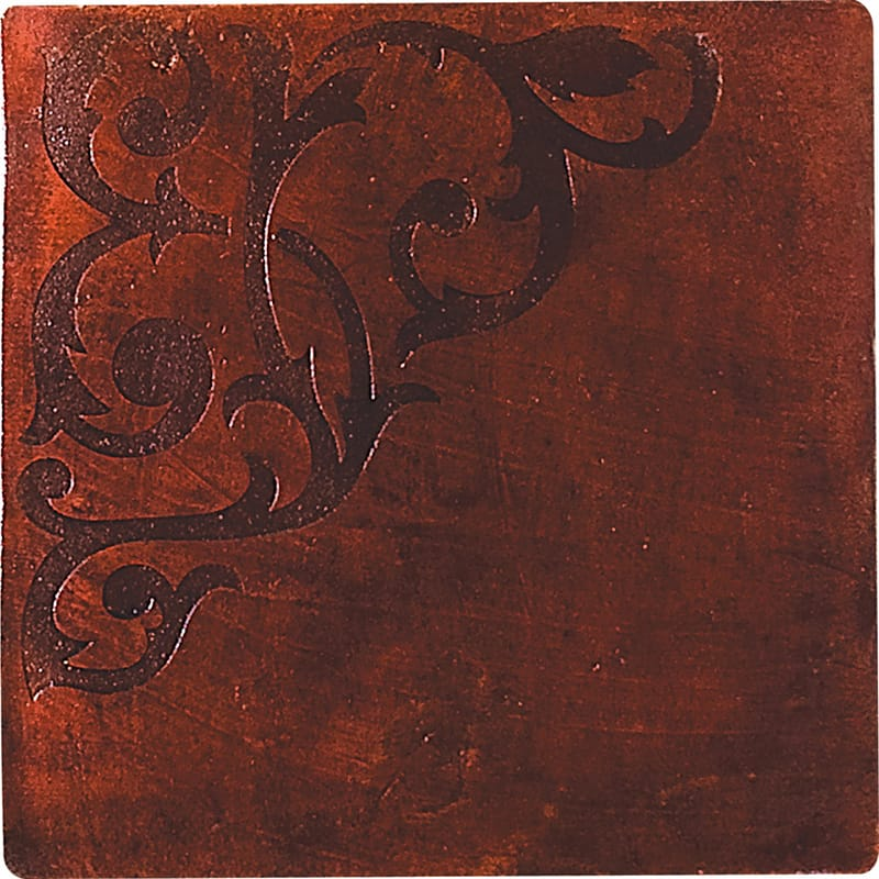 engraved medieval waxed terracotta tiles 12x12