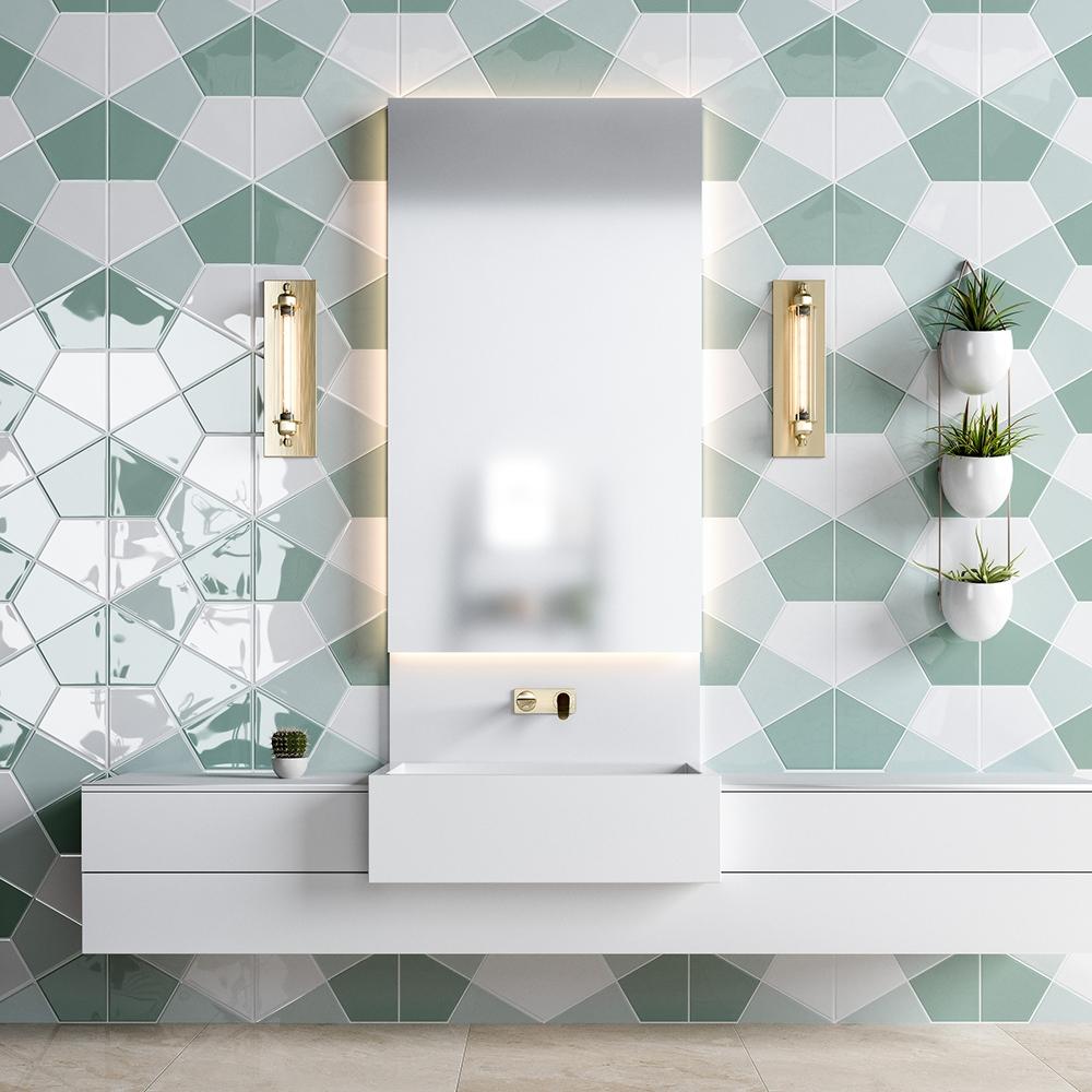witty green glossy diamante ceramic tiles 6 1 8x6 7 8