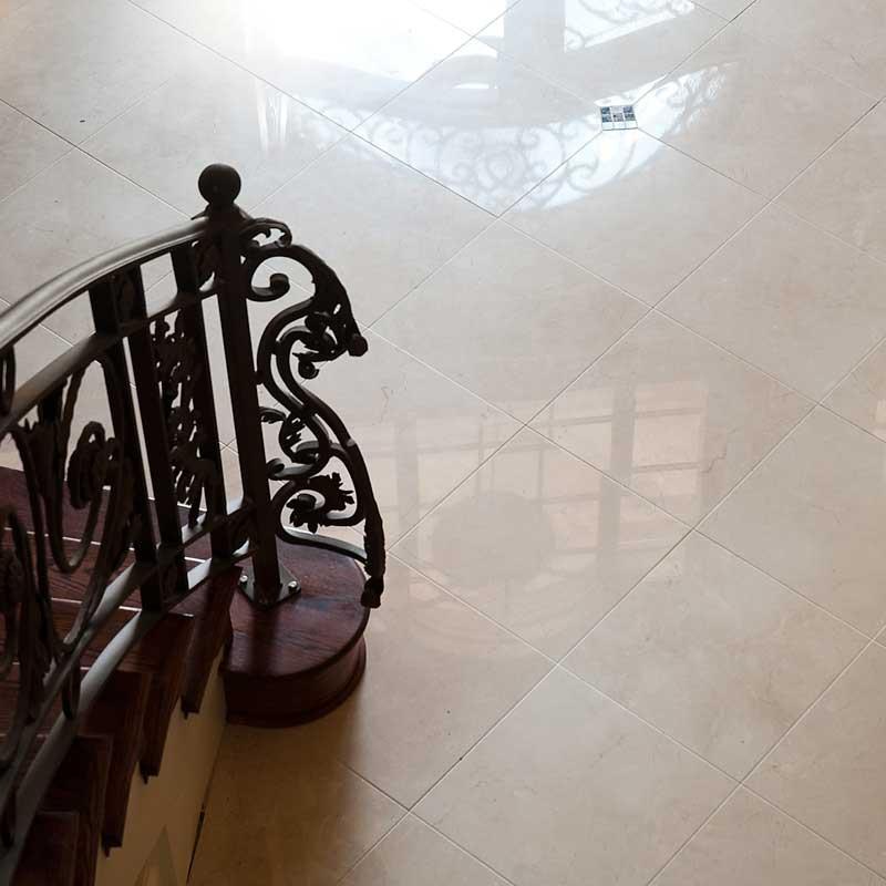 crema marfil polished marble tiles 12x12