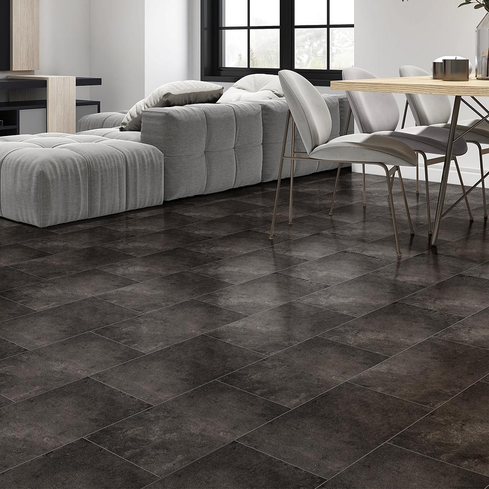 weathered black matte porcelain tiles 12x24