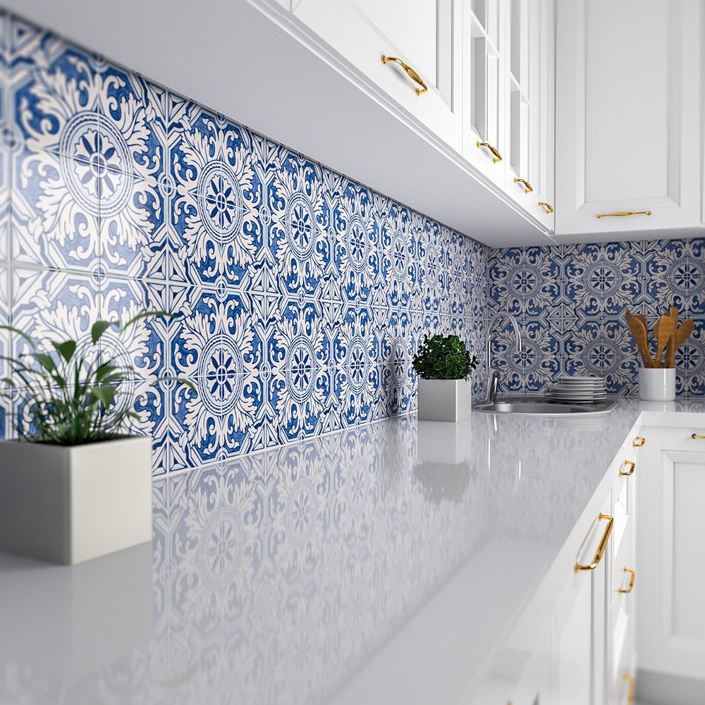 kaleidoscope glazed ceramic tiles 6x6